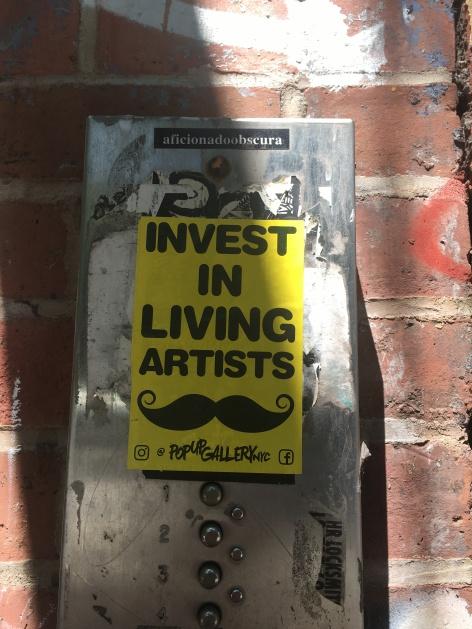 invest in living artist